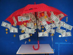 Umbrella and money