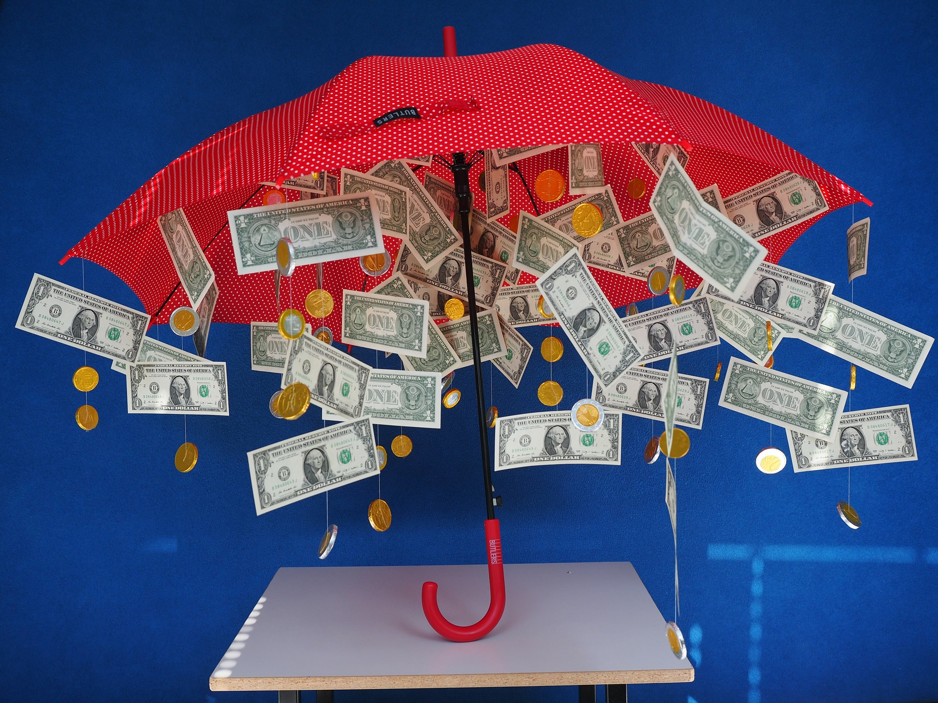 Umbrella and money